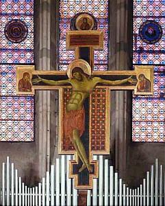 Arezzo, Cimabue: Krucyfiks w kościele San Domenico